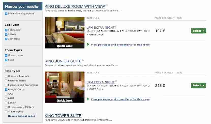 Discounted rates through the third-night-free promotion.