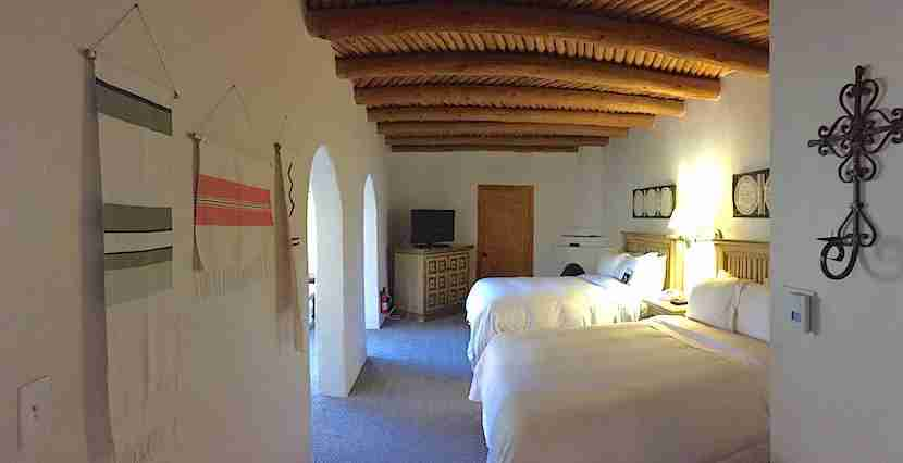 I used my Starpoints to book a huge room at La Posada de Santa Fe this summer.