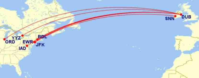 Seven routes are now available most of the year for just 13,000 Avios each way. Image courtesy of Great Circle Mapper.