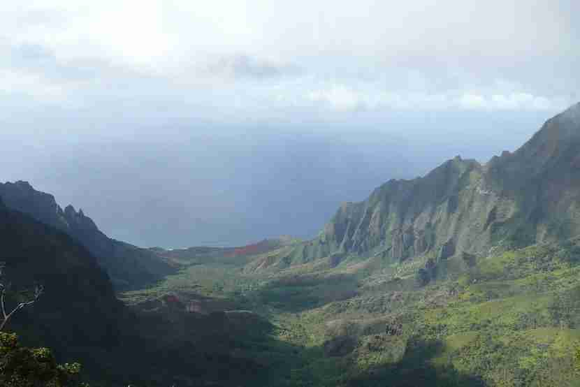 You can't get this view of the Na Pali coast without working a little for it.