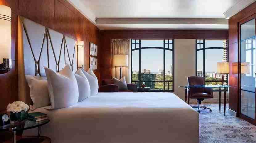 A standard room at the Park Hyatt Melbourne. Image courtesy of Hyatt.