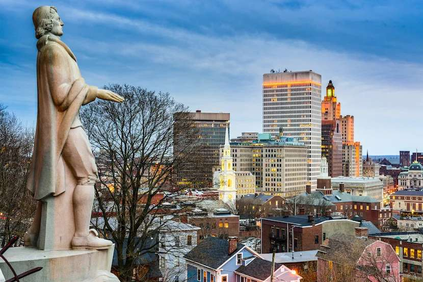 What would Roger Williams, RI's founder, have to say about the naming debacle? Image courtesy of SeanPavonePhoto via Getty Images.