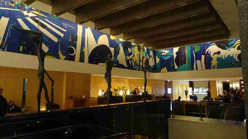 The lobby of the Westin Sydney hotel is a treat for art lovers. Image by the author.