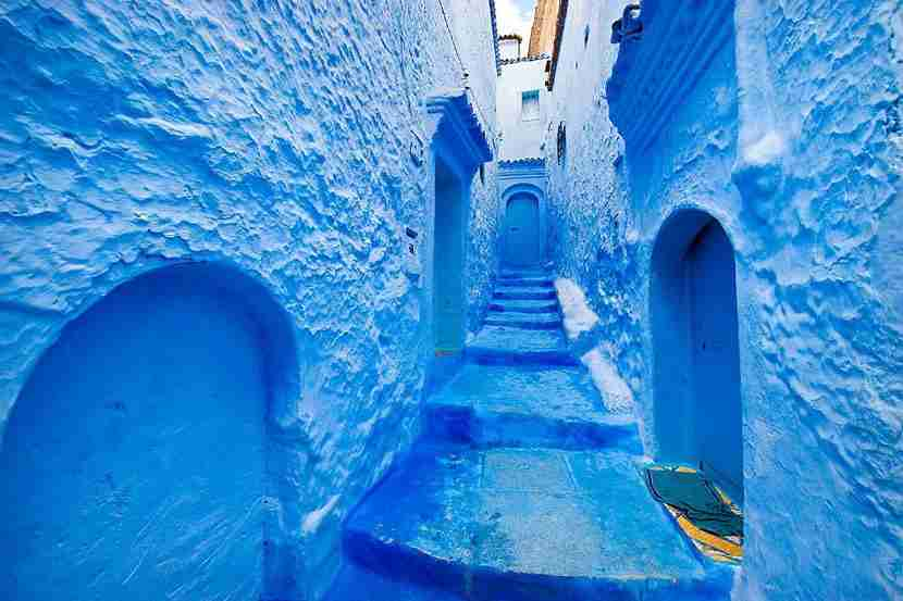 The blue-hued city of Chefchaouen. Image courtesy of AGF via Getty Images.