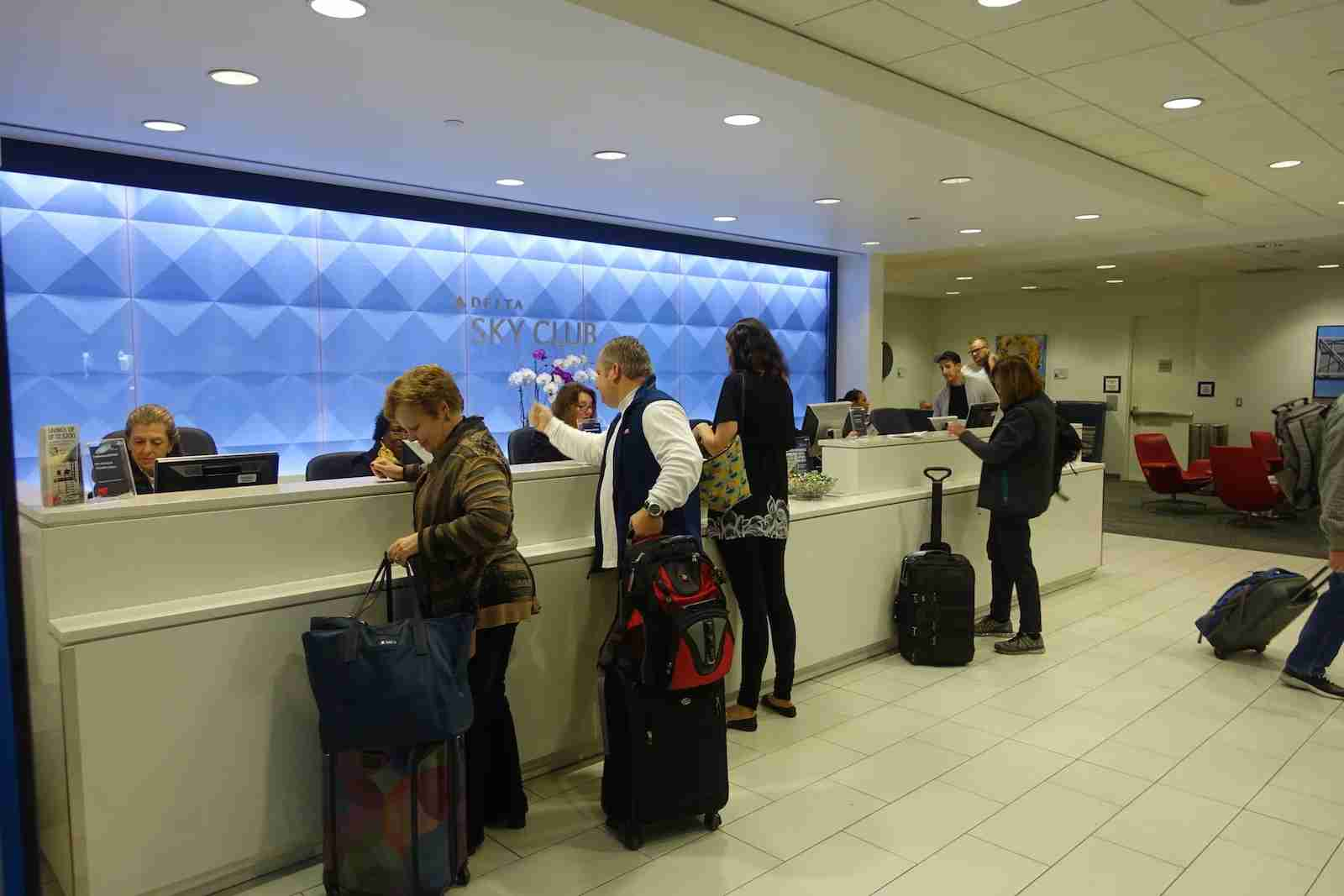 Check-in at the Sky Club.