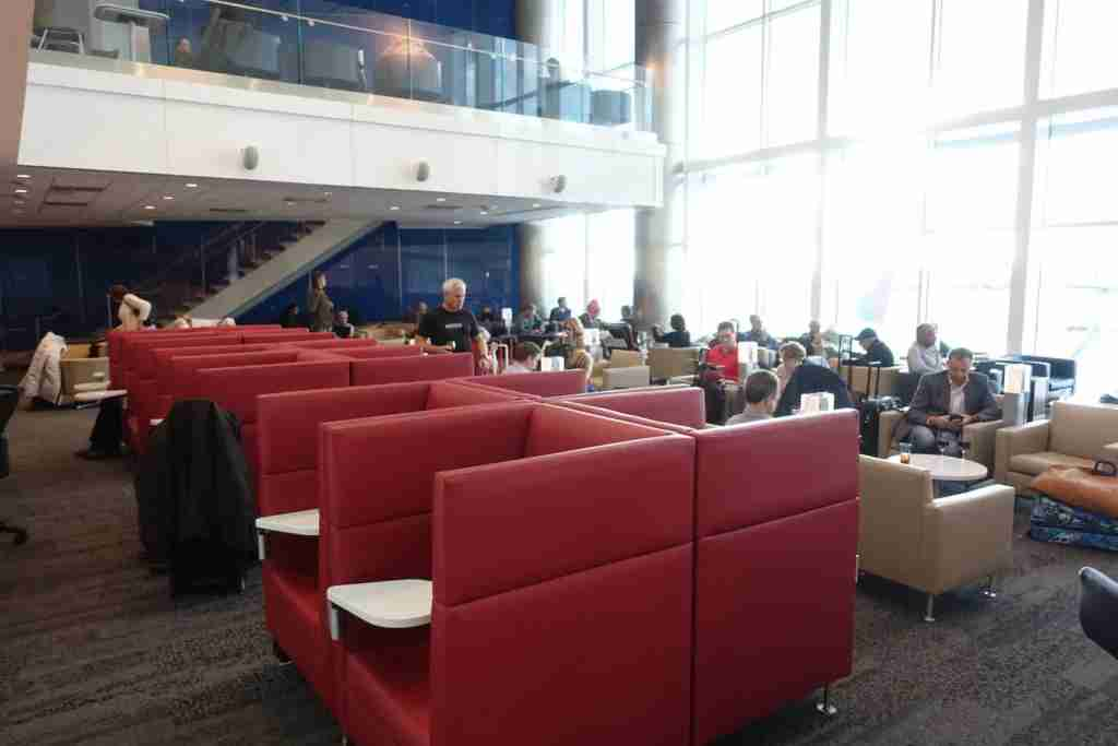 Some of the individual seats in the lounge.