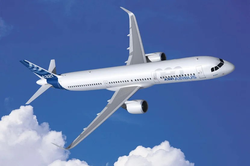 A rendering of the new Airbus A321neo.