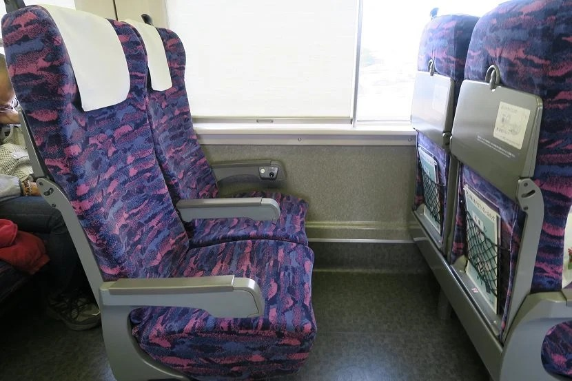 There's plenty of space between the seats.