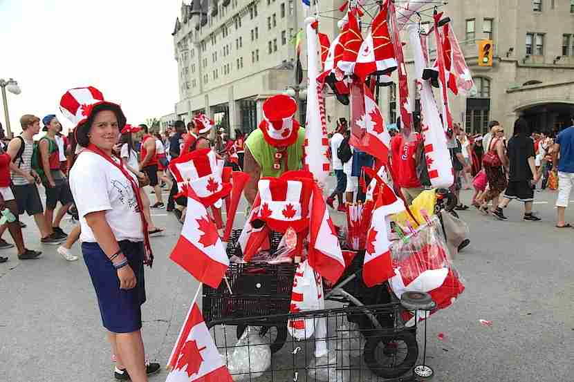This year's Canada Day in Ottawa will be a capital celebration. Image by the author.