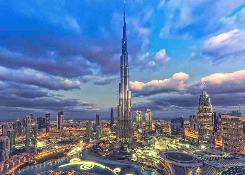 Make your way up to the lounge-like observation deck SKY on the 148th floor of the Burj Khalifa. Image courtesy of Burj Khalifa