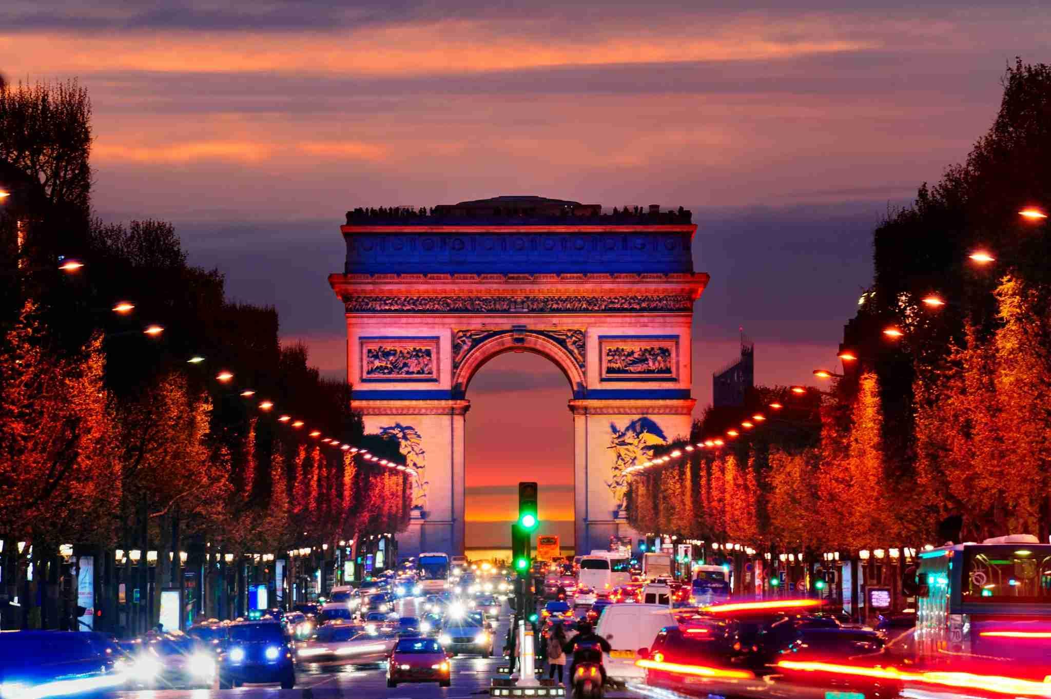 Arc de Triomphe (Photo by Spaces Images/Getty Images.)