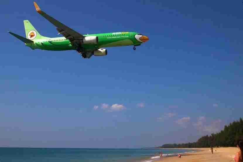 The beach along Phuket Airport