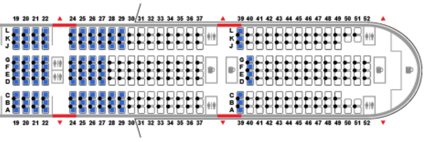 Where to Sit When Flying United's 777-300ER: Economy on 777 seat plan, 777 seat diagram, delta a380 seating map, 777 seat profile, 777 seat configuration,