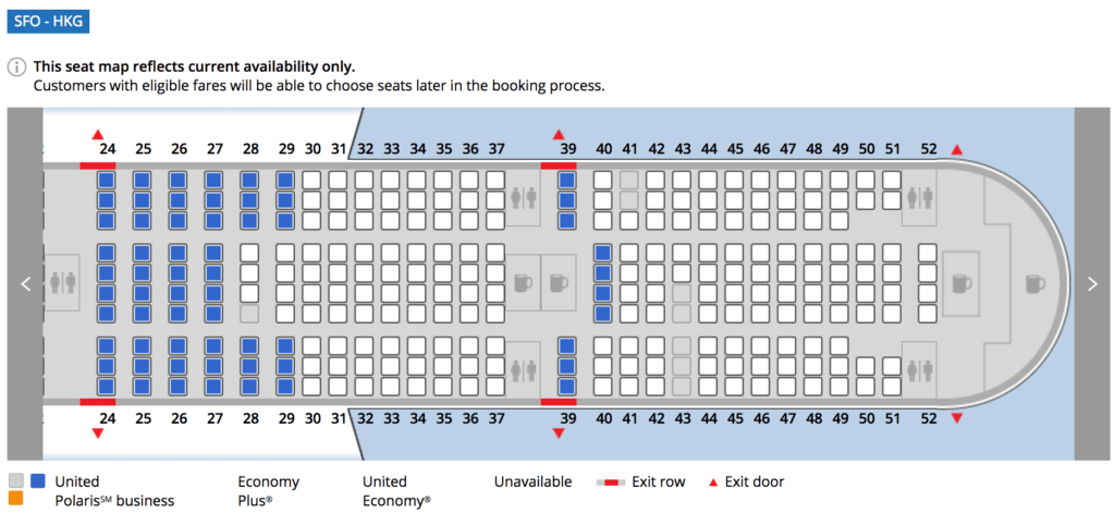 Do The Middle Seats In Rows 28 And 29 Of A United Boeing