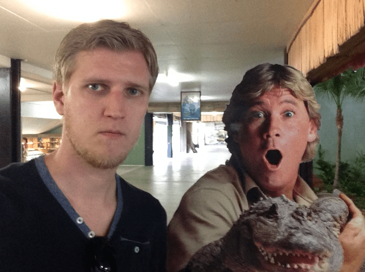 """Thought the zoo would cheer me up. Turns out Steve Irwin is dead."" Image courtesy of Lars Fevang."