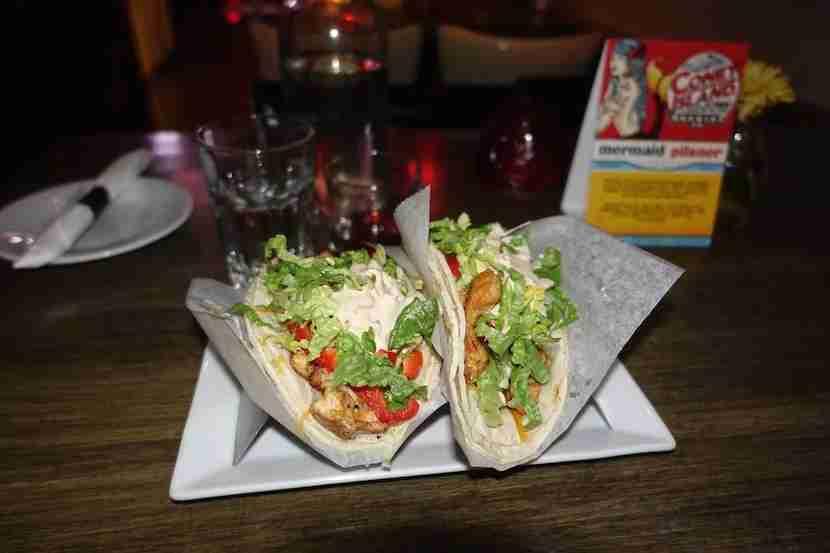 The tacos seemed like a healthy choice.