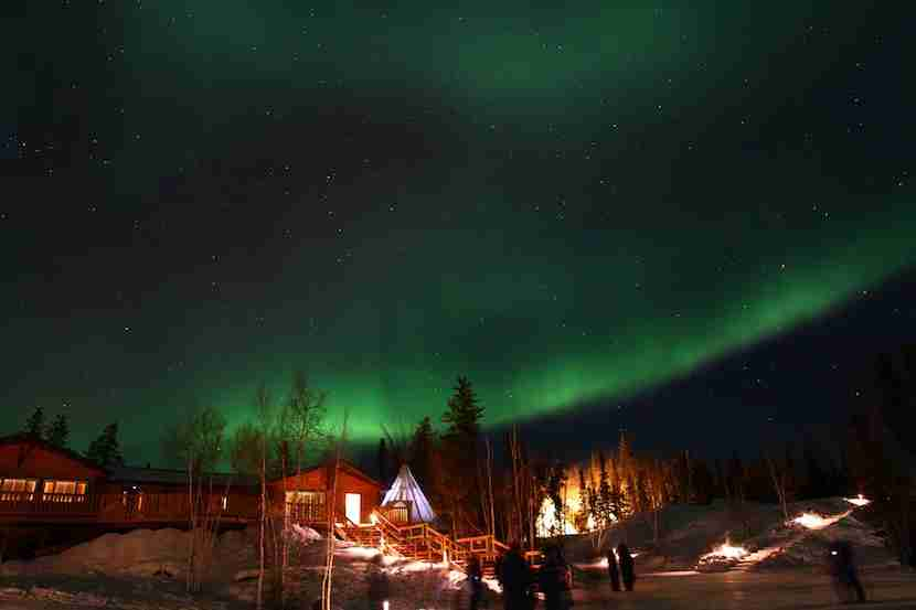 """Aurora Village is a prime place to spot the Northern Lights near Yellowknife, Canada. Image courtesy of <a href=""""https://www.flickr.com/photos/gotovan/"""" target=""""_blank"""">GoToVan</a> via Flickr."""