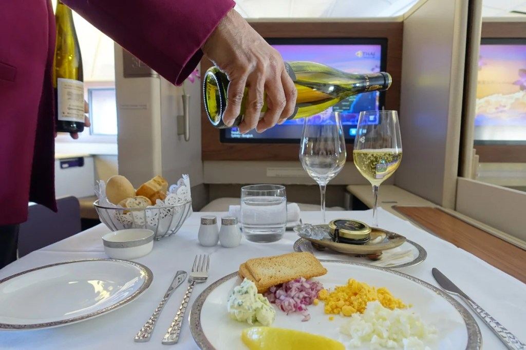 Hoping to use your miles for Champagne and caviar on Thai Airways? It