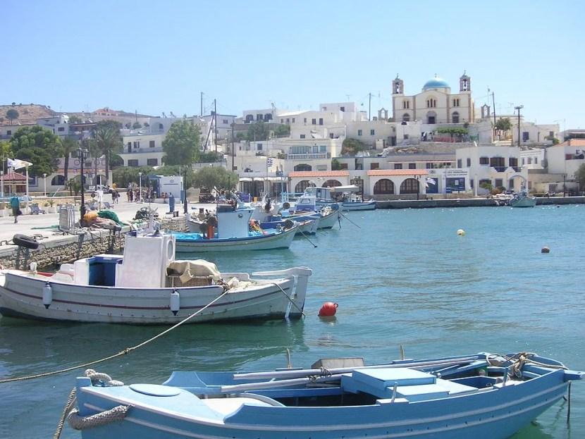 Le port de Lipsi.  Avec l'aimable autorisation de KF via Wikimedia Commons.