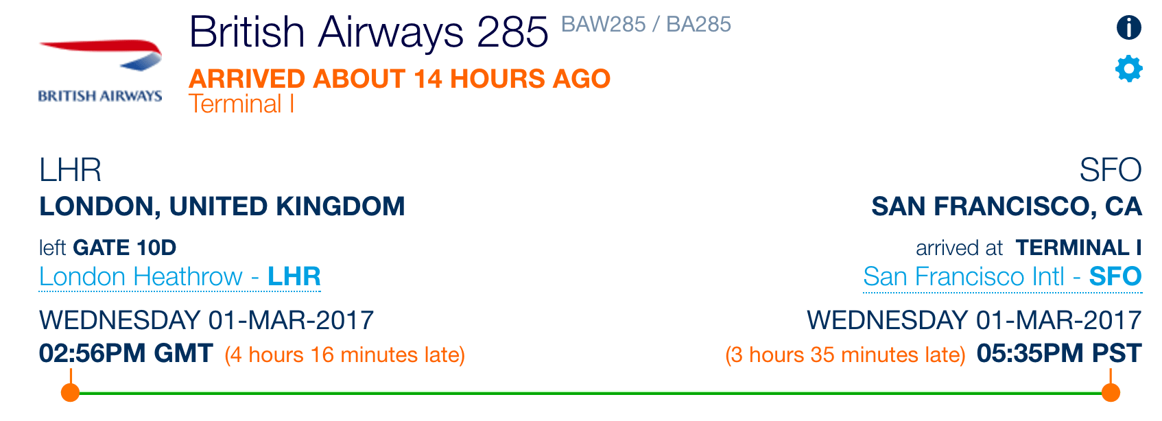 Mouse Delays San Francisco-Bound British Airways Flight