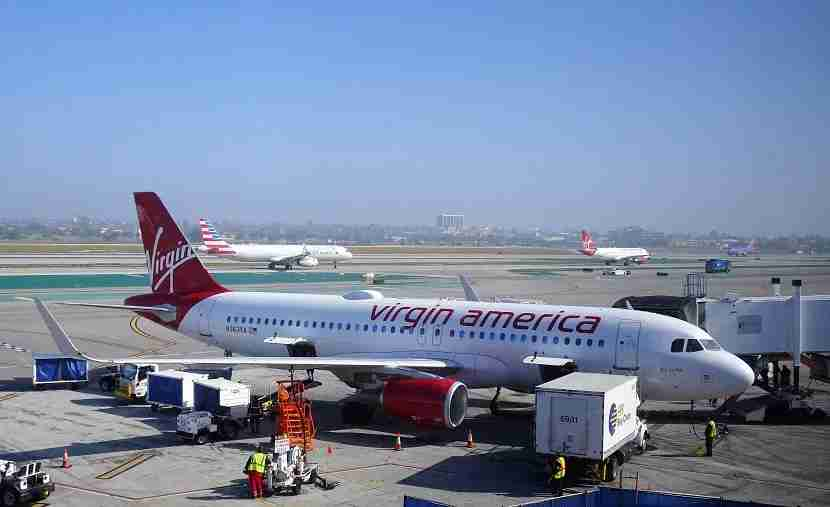 This Virgin America Jet flew me from Los Angeles to Chicago.