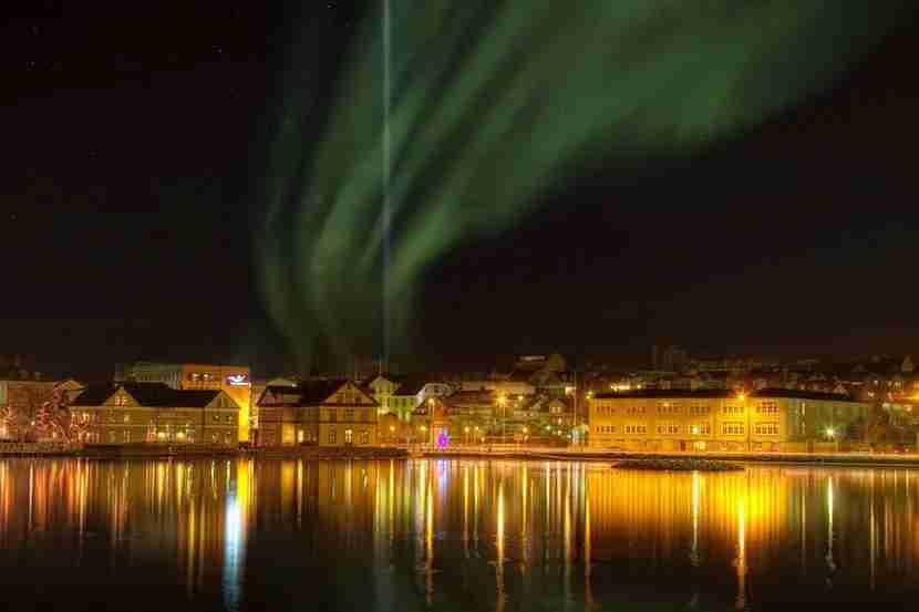 In Reykjavík, you can see the auroras dancing above the city. Image courtesy of Visit Reykjavík