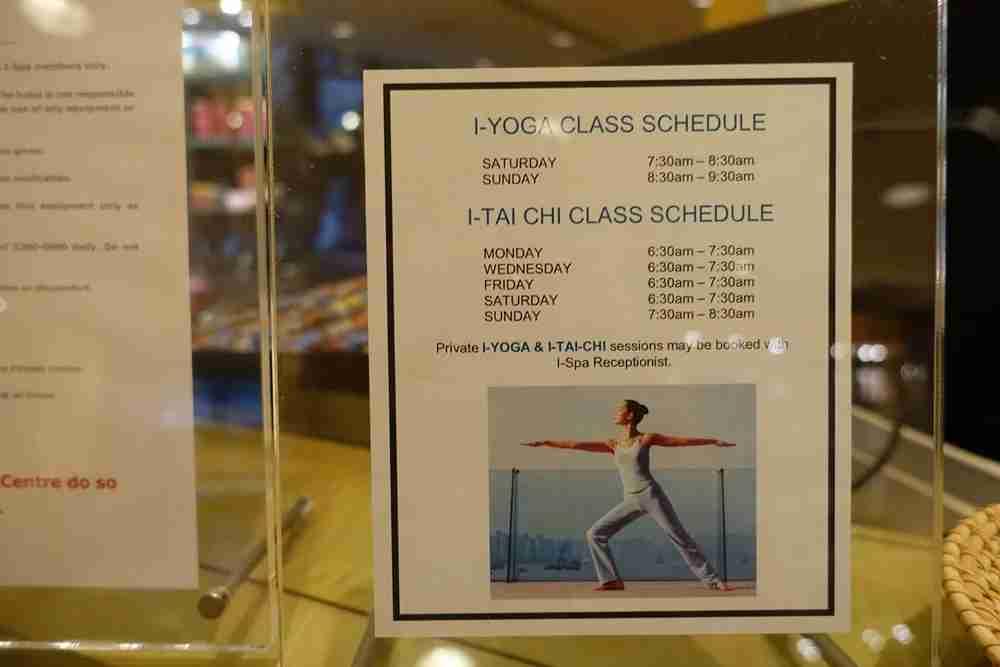 The class schedule.