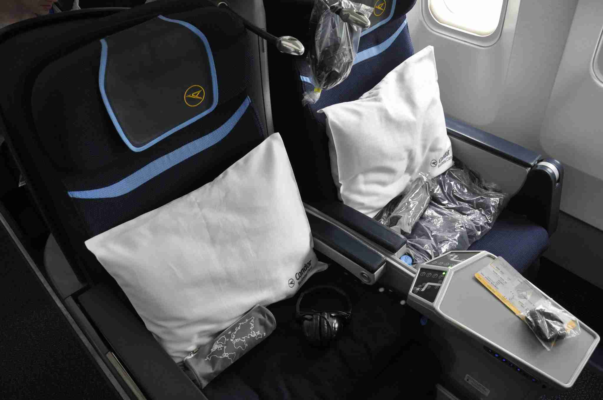 Condor Airlines Business Class seats, aboard their Boeing 767