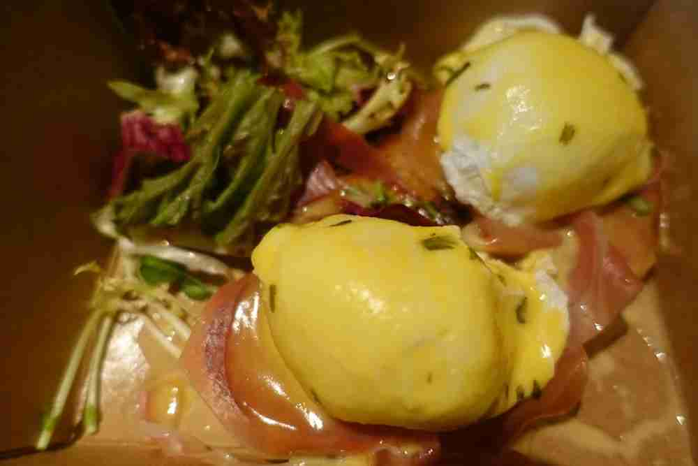 Some amazing eggs Benedict from the nearby Urban Coffee.