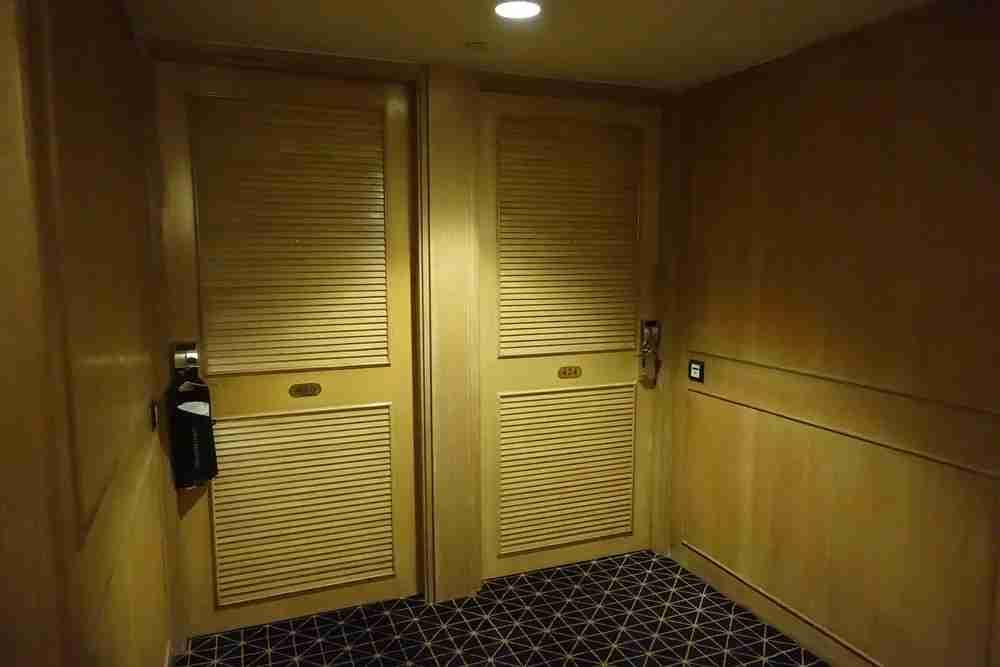 The hallway and door to my room.