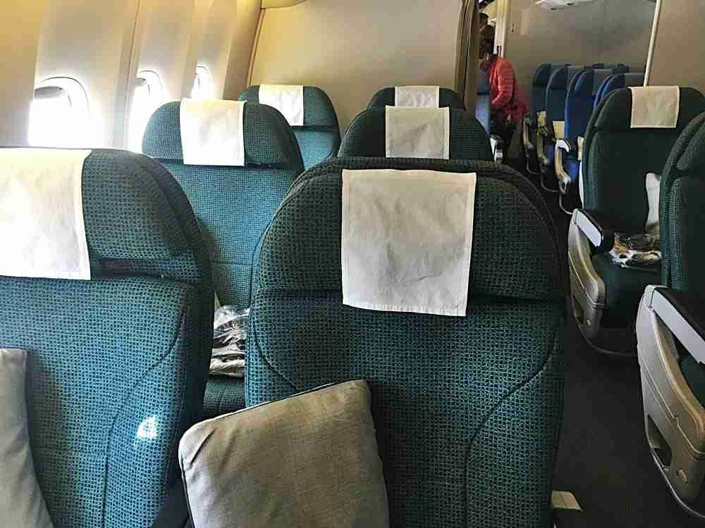 The premium economy two-seat rows.