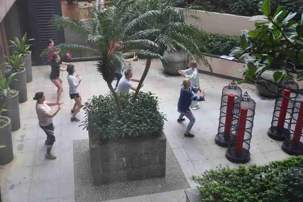 Tai Chi offered at the hotel.