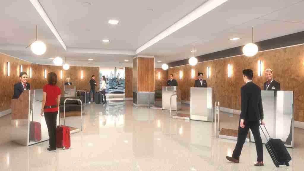 British Airways new premium check-in area at JFK
