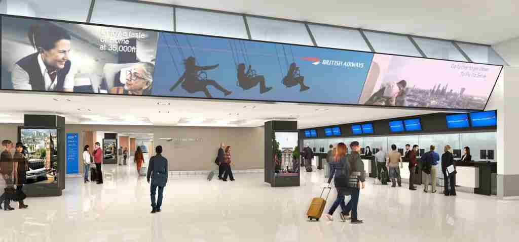 New check-in area for all BA passengers at JFK