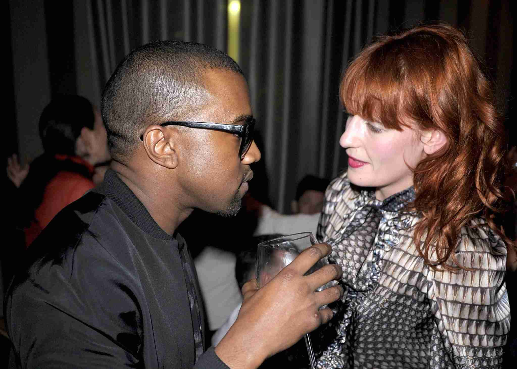 Kanye West, dirty martinis and one cinnamon tea light added up to a hotel room fire for Florence Welch. Image courtesy of Trago/WireImage via Getty Images.