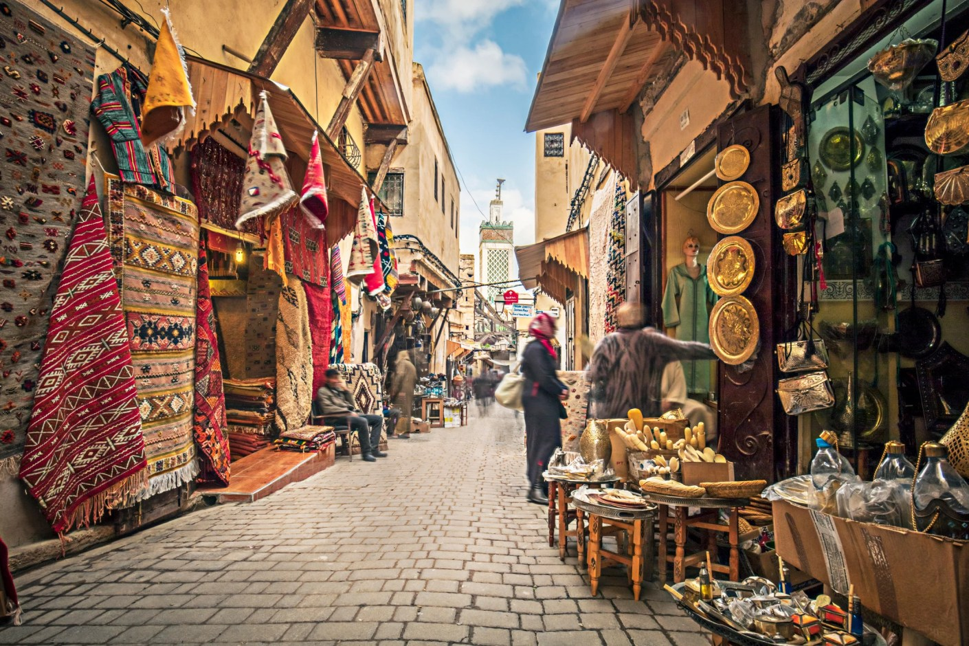Staying in the medina means quicker access to the souks. Image courtesy of xavierarnau via Getty Images.