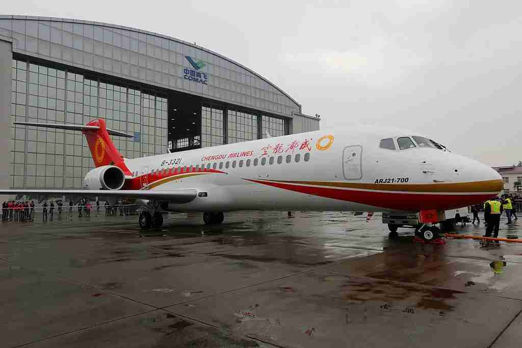 The COMAC ARJ 21 -- credit Visual China Group (VCG) / Getty Images