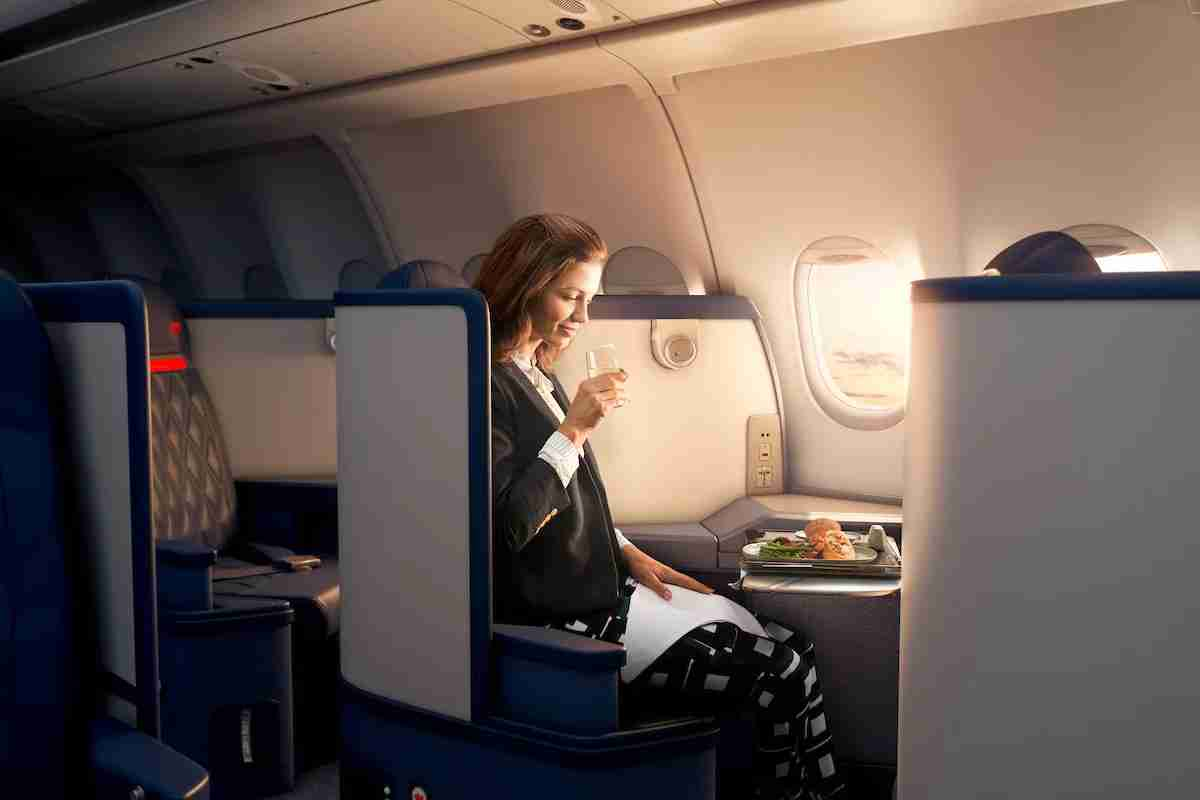 Wider at the hips, narrower at the feet. This paradigm has shaped most business class designs in recent years. Delta is adjusting the balance slightly back toward feet space, however, in its forthcoming Delta One suite.