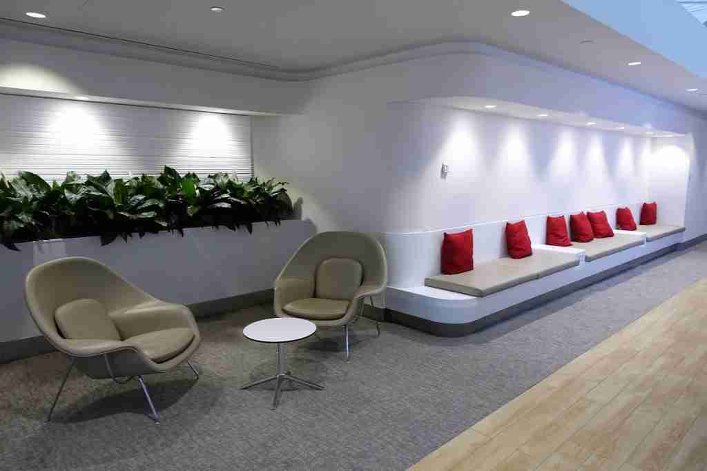 Flagship First Check-In seating