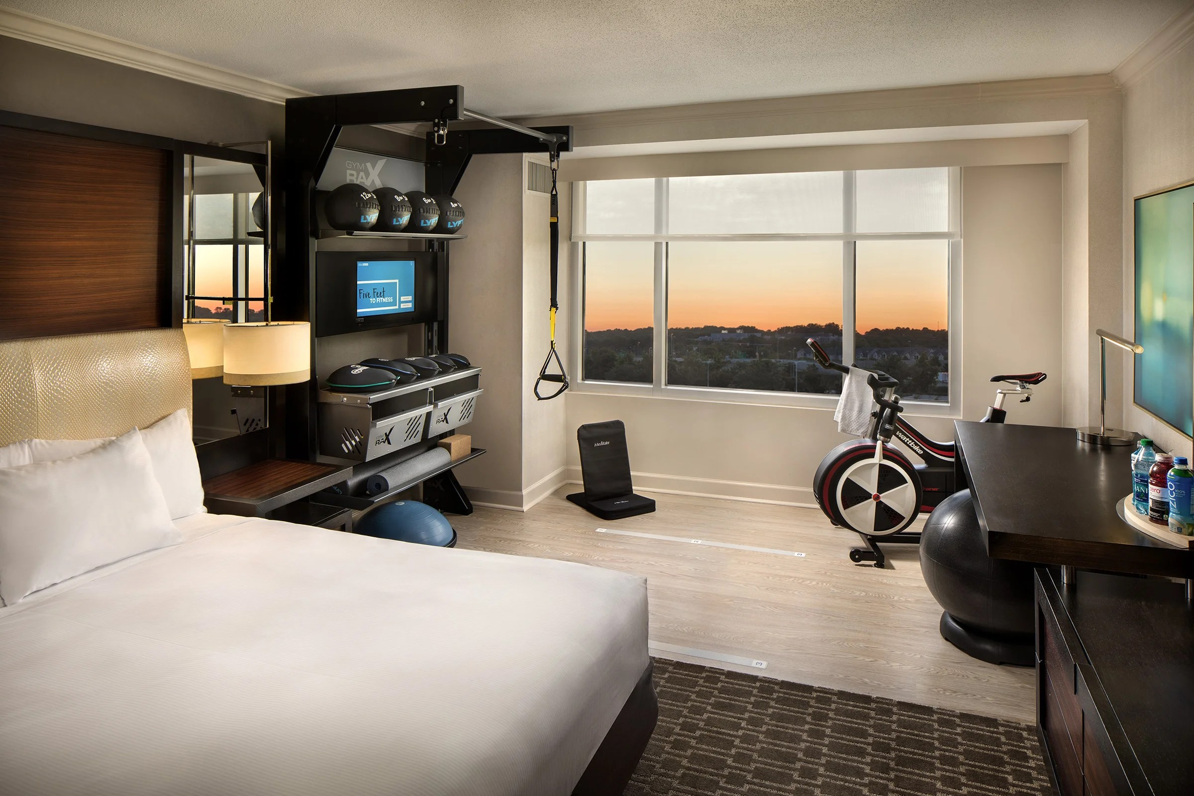 Hilton S New Hotel Rooms Are Centered Around Fitness