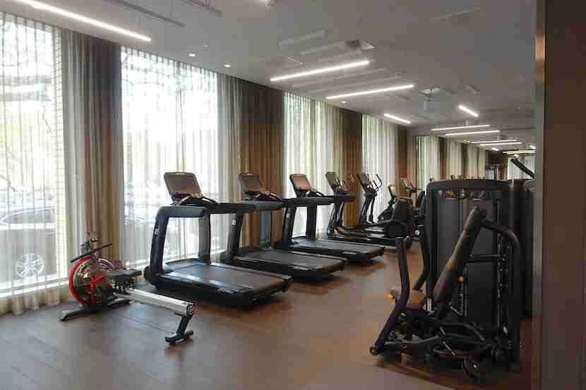 Cardio machines in the gym.
