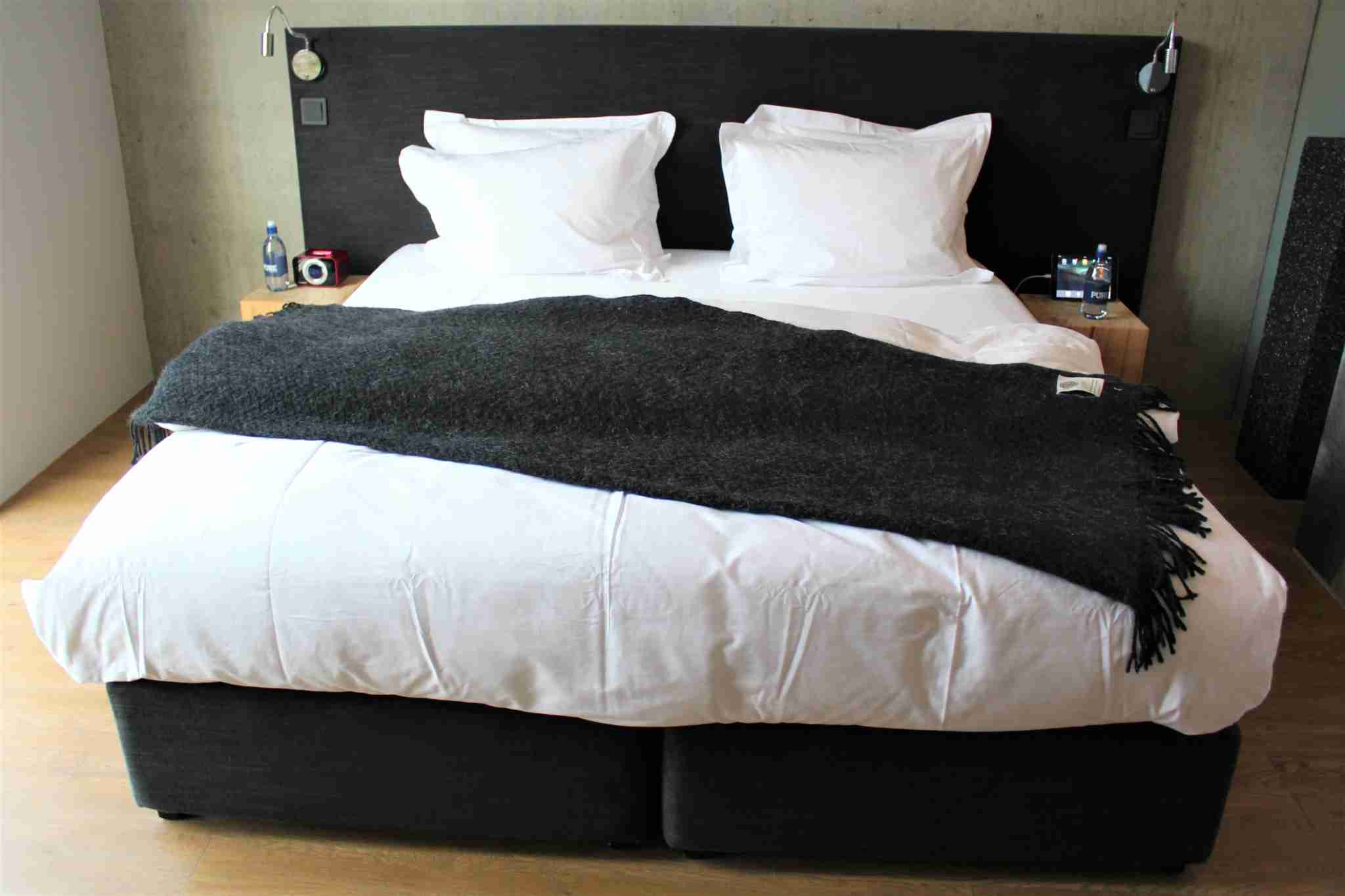 The double bed could be broken down into two single beds.