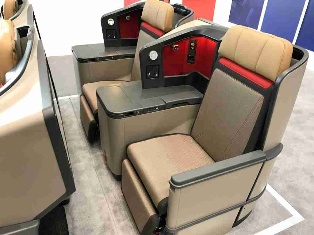 South African A330 new business class seat