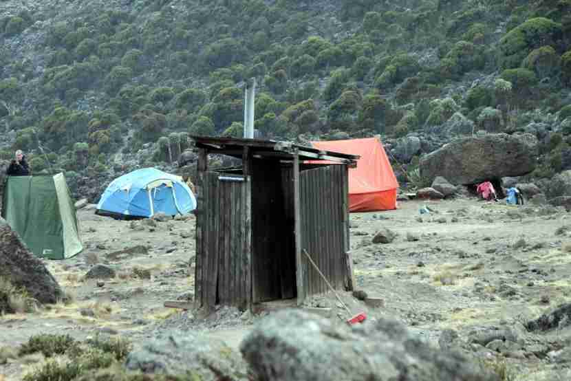 The lovely restroom facilities of Kilimanjaro National Park