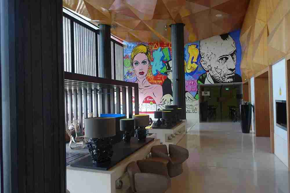 Pop Art Decor in the Lobby
