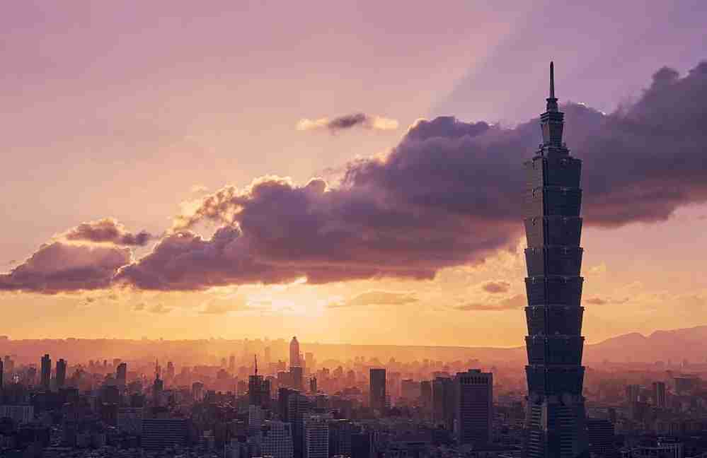 A view of Taipei and the famous Taipei 101 building. Photo by Craig Ferguson via Getty.