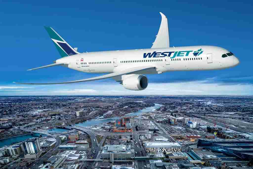 Another mock-up of what the upcoming WestJet 787-9. Image courtesy .....