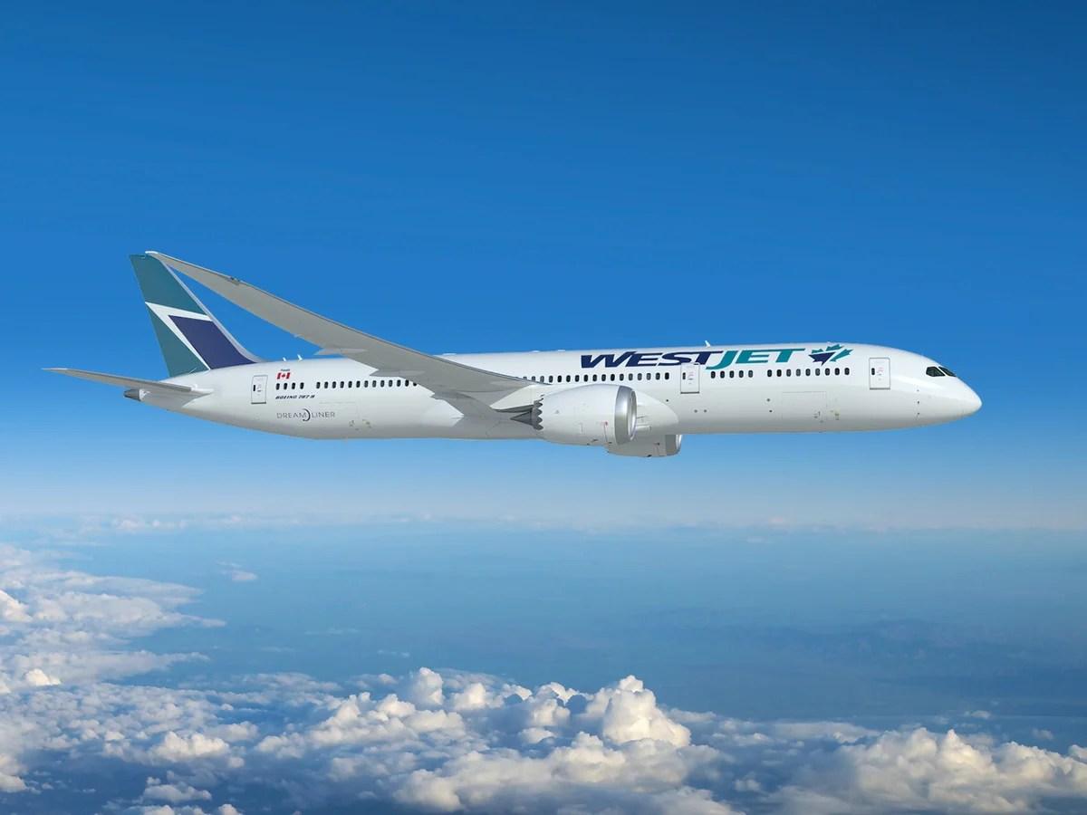 WestJet announces new Boeing 787 flights for 2020