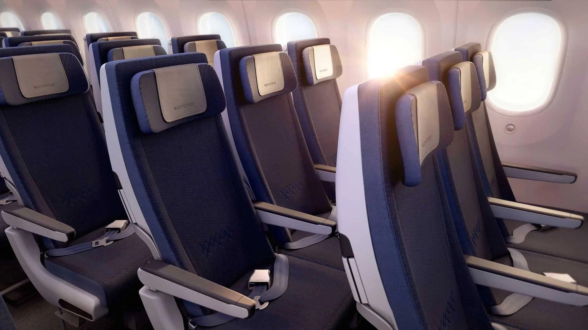 Boeing 787 interior coach viewing gallery - El Al 787 Coach
