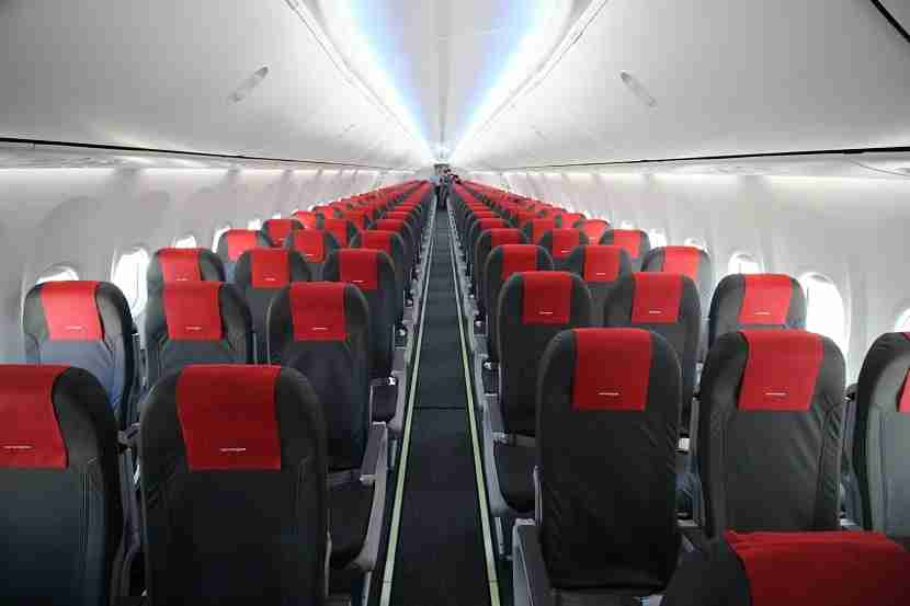The cabin of a Norwegian 737 MAX 8 (Photo courtesy of Norwegian)